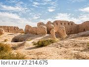 Купить «Руины древней крепости Кызыл-Кала, Узбекистан», фото № 27214675, снято 21 октября 2016 г. (c) Юлия Бабкина / Фотобанк Лори