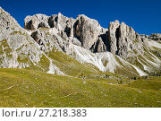Купить «Dolomite Alps, landscape», фото № 27218383, снято 23 сентября 2014 г. (c) Надежда Болотина / Фотобанк Лори