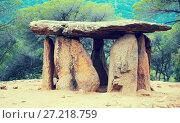 Купить «Pedra Gentil megalith», фото № 27218759, снято 9 октября 2016 г. (c) Яков Филимонов / Фотобанк Лори