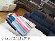 Купить «Image of catalog of upholstery colors», фото № 27218919, снято 19 июня 2017 г. (c) Яков Филимонов / Фотобанк Лори