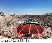 Купить «Арена ди Верона - античный римский амфитеатр в Вероне, Италия», фото № 27233419, снято 21 апреля 2017 г. (c) Наталья Волкова / Фотобанк Лори