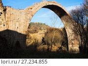 Купить «remains of medieval bridge in Cardona», фото № 27234855, снято 15 октября 2018 г. (c) Яков Филимонов / Фотобанк Лори