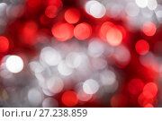 Купить «Abstract bokeh background red and white color», фото № 27238859, снято 25 ноября 2017 г. (c) Юлия Бабкина / Фотобанк Лори