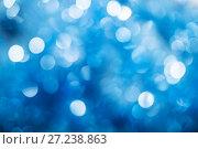 Купить «Abstract bokeh background blue color», фото № 27238863, снято 26 ноября 2017 г. (c) Юлия Бабкина / Фотобанк Лори