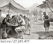 One of the laws of Lycurgus, the Spartan reformer, was that no one should eat their meals at home or in private. This was intended as a measure against... Редакционное фото, фотограф Classic Vision / age Fotostock / Фотобанк Лори