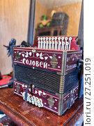 Купить «Old Russian accordion», фото № 27251019, снято 14 мая 2017 г. (c) Евгений Ткачёв / Фотобанк Лори