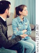 Купить «Father and daughter arguing», фото № 27251867, снято 4 марта 2017 г. (c) Яков Филимонов / Фотобанк Лори
