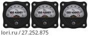 Купить «ISO 45001. The percent of implementation. Indicator», иллюстрация № 27252875 (c) WalDeMarus / Фотобанк Лори