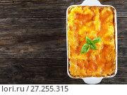 Купить «italian lasagna layered with pasta sheets», фото № 27255315, снято 19 ноября 2017 г. (c) Oksana Zhupanova / Фотобанк Лори