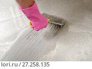 Купить «Floor leveling», фото № 27258135, снято 25 августа 2013 г. (c) Stockphoto / Фотобанк Лори