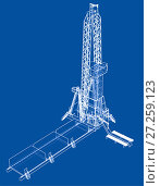 Купить «Oil rig. Detailed vector illustration», иллюстрация № 27259123 (c) Кирилл Черезов / Фотобанк Лори
