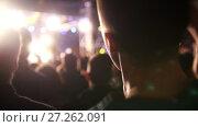Купить «Spectators at the concert - blurred», видеоролик № 27262091, снято 21 августа 2018 г. (c) Константин Шишкин / Фотобанк Лори