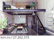 Купить «modern loft interior design.», фото № 27262315, снято 19 января 2019 г. (c) Виктор Застольский / Фотобанк Лори