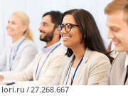 Купить «happy business team at international conference», фото № 27268667, снято 27 августа 2017 г. (c) Syda Productions / Фотобанк Лори