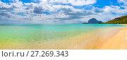 Sandy tropical beach. Beautiful landscape. Panorama. Стоковое фото, фотограф Ольга Хорошунова / Фотобанк Лори