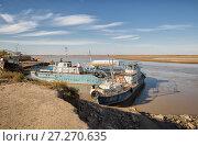 Купить «Старые теплоходы на реке Амударья», фото № 27270635, снято 21 октября 2016 г. (c) Юлия Бабкина / Фотобанк Лори