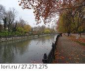Купить «Набережная реки Салгир (Симферополь)», фото № 27271275, снято 20 ноября 2017 г. (c) Ярослав Коваль / Фотобанк Лори