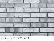 Купить «Texture stone background of grey brick wall, texture wall surface with red bricks», фото № 27271903, снято 27 мая 2017 г. (c) Зезелина Марина / Фотобанк Лори