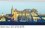 Купить «Image of streets of Sibiu with view of Cathedral», фото № 27272675, снято 16 сентября 2017 г. (c) Яков Филимонов / Фотобанк Лори