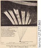 """Купить «Комета Шезо (C/1743 X1) в ночь с 7 на 8 и с 8 на 9 марта 1744 года. Рисунок Шезо. Иллюстрация из журнала """"Природа и люди"""", 1915 год», иллюстрация № 27277863 (c) Макаров Алексей / Фотобанк Лори"""