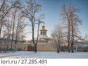 Chinese village in the Alexander Park in winter. Tsarskoye Selo, St. Petersburg, Russia (2014 год). Редакционное фото, фотограф Юлия Бабкина / Фотобанк Лори