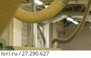 Купить «air duct pipes at workshop or factory shop», видеоролик № 27290627, снято 17 ноября 2017 г. (c) Syda Productions / Фотобанк Лори