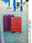 Купить «Two suitcases», фото № 27290883, снято 20 августа 2015 г. (c) Наталья Давыдова / Фотобанк Лори