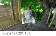 Купить «Boy sliding down slide in playground 4k», видеоролик № 27291159, снято 26 июня 2019 г. (c) Wavebreak Media / Фотобанк Лори