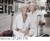Купить «Mature spouses enjoying joint vacation», фото № 27297115, снято 27 августа 2017 г. (c) Яков Филимонов / Фотобанк Лори