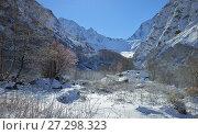 Купить «Winter in mountains», фото № 27298323, снято 14 ноября 2015 г. (c) александр жарников / Фотобанк Лори