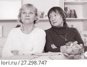 Купить «Two offended senior women after quarrel», фото № 27298747, снято 22 ноября 2017 г. (c) Яков Филимонов / Фотобанк Лори