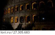 Купить «Colosseum in centre of city of Rome, Italy», видеоролик № 27305683, снято 10 августа 2017 г. (c) BestPhotoStudio / Фотобанк Лори