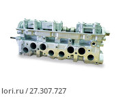 Engine block with four cylinders and four valves per cylinder. Стоковое фото, фотограф Курганов Александр / Фотобанк Лори