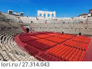 Купить «Арена ди Верона - античный римский амфитеатр в Вероне, Италия», фото № 27314043, снято 21 апреля 2017 г. (c) Наталья Волкова / Фотобанк Лори