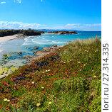 Купить «Los Castros beach (Galicia, Spain).», фото № 27314335, снято 25 мая 2019 г. (c) Юрий Брыкайло / Фотобанк Лори