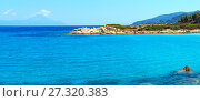 Aegean sea coast (Chalkidiki, Greece). Стоковое фото, фотограф Юрий Брыкайло / Фотобанк Лори