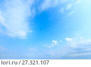 Купить «Blue sky background.», фото № 27321107, снято 18 июня 2017 г. (c) Юрий Брыкайло / Фотобанк Лори