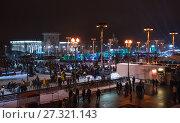 Купить «Открытый каток на ВДНХ в Москве в новогоднюю ночь», фото № 27321143, снято 1 января 2017 г. (c) Алёшина Оксана / Фотобанк Лори