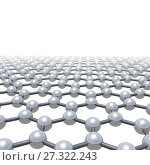 Купить «Graphene layer, schematic model on white», иллюстрация № 27322243 (c) EugeneSergeev / Фотобанк Лори