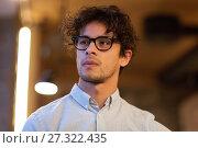 Купить «portrait of man in glasses», фото № 27322435, снято 19 ноября 2016 г. (c) Syda Productions / Фотобанк Лори
