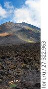 Etna volcano view, Sicily, Italy. Стоковое фото, фотограф Юрий Брыкайло / Фотобанк Лори