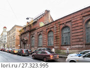 Купить «Traffic jam in St. Petersburg», фото № 27323995, снято 18 октября 2017 г. (c) Юлия Бабкина / Фотобанк Лори