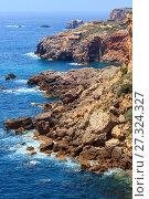 Купить «Summer Atlantic coast (Algarve, Portugal).», фото № 27324327, снято 21 мая 2016 г. (c) Юрий Брыкайло / Фотобанк Лори