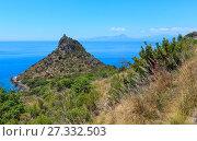Купить «Torre Caina and Tyrrhenian sea view, Maratea. italy», фото № 27332503, снято 20 июня 2017 г. (c) Юрий Брыкайло / Фотобанк Лори
