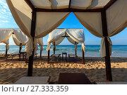 Купить «Beach Maldives of Salento, Pescoluse, Puglia, Italy», фото № 27333359, снято 8 июня 2017 г. (c) Юрий Брыкайло / Фотобанк Лори