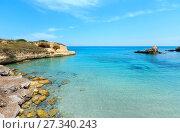 Купить «Beach Torre Sant'Andrea, Salento, Italy», фото № 27340243, снято 7 июня 2017 г. (c) Юрий Брыкайло / Фотобанк Лори