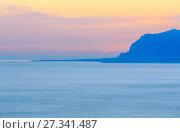Купить «Castellammare del Golfo sea bay, Sicily, Italy», фото № 27341487, снято 17 июня 2017 г. (c) Юрий Брыкайло / Фотобанк Лори