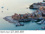 Купить «Castellammare del Golfo sea bay, Sicily, Italy», фото № 27341491, снято 17 июня 2017 г. (c) Юрий Брыкайло / Фотобанк Лори