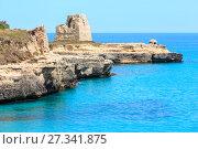 Купить «Roca Vecchia Archaeological Area sea coast, Italy», фото № 27341875, снято 7 июня 2017 г. (c) Юрий Брыкайло / Фотобанк Лори