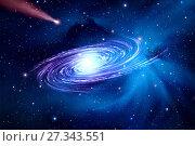 Купить «Spiral galaxy top view», фото № 27343551, снято 11 июня 2016 г. (c) Евгений Ткачёв / Фотобанк Лори